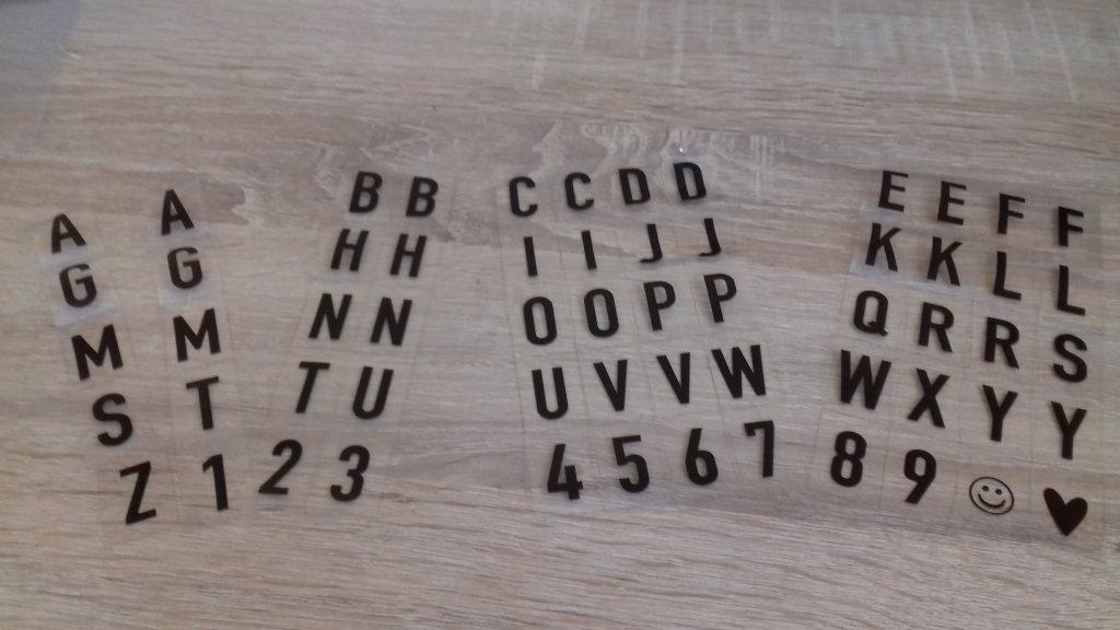 Stĺpce písmen